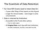 the essentials of data retention