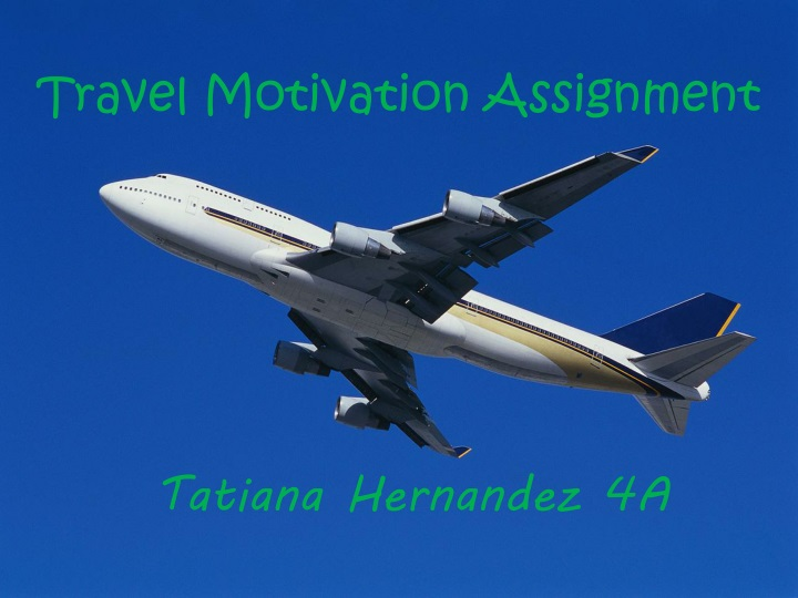 travel motivation assignment