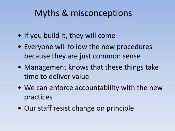 Myths & misconceptions