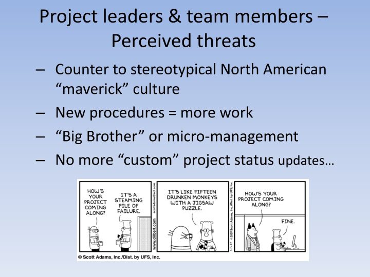 Project leaders & team members –