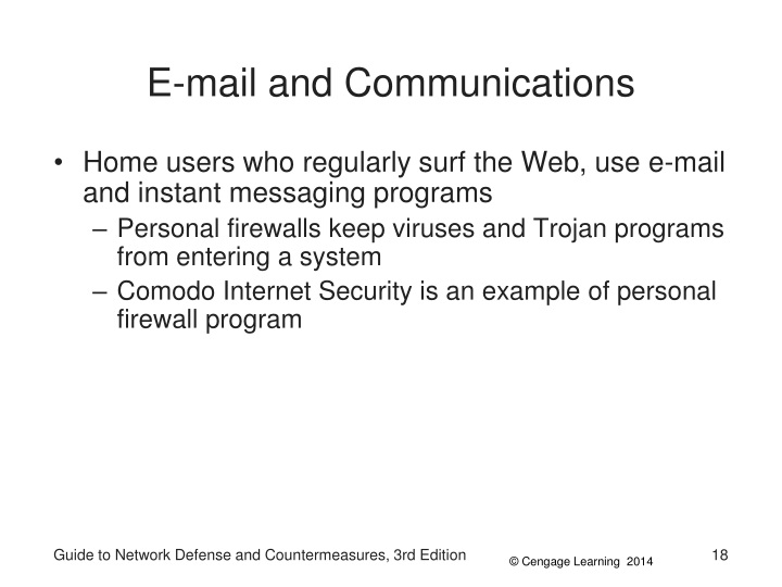 E-mail and Communications