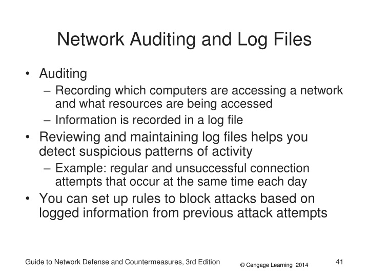 Network Auditing and Log Files