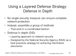 using a layered defense strategy defense in depth