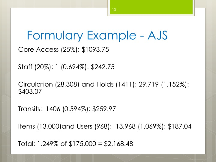Formulary Example - AJS