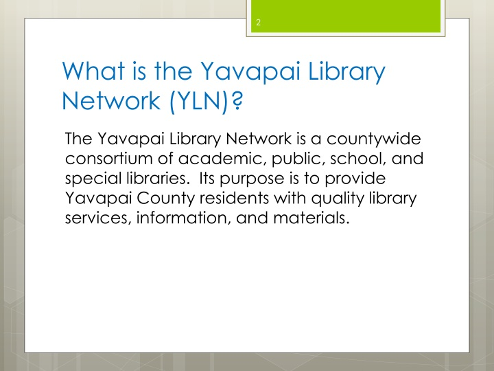 What is the Yavapai Library Network (YLN)?