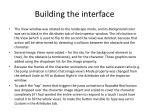 building the interface