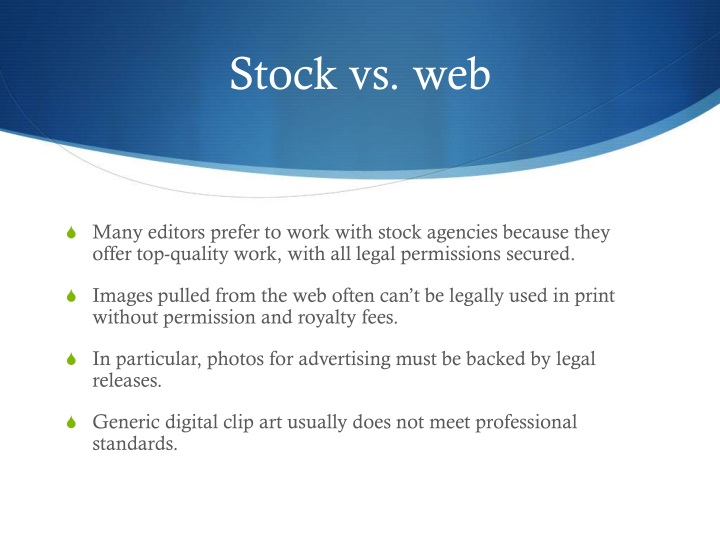 Stock vs. web