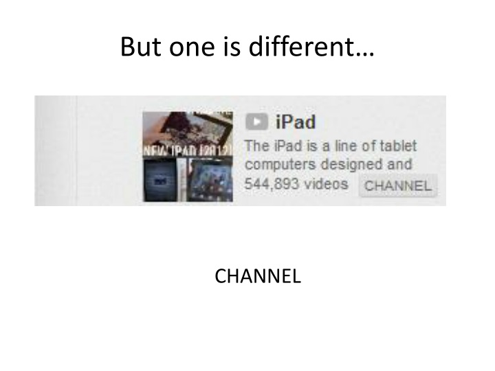 But one is different…