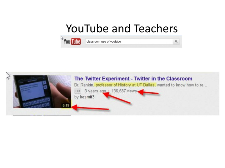 YouTube and Teachers
