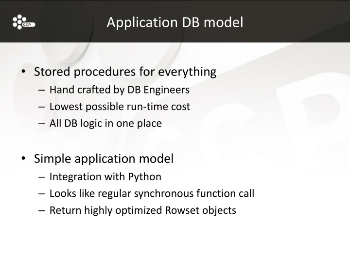 Application DB model