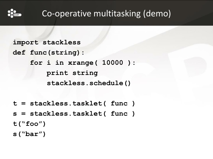 Co-operative multitasking (demo)