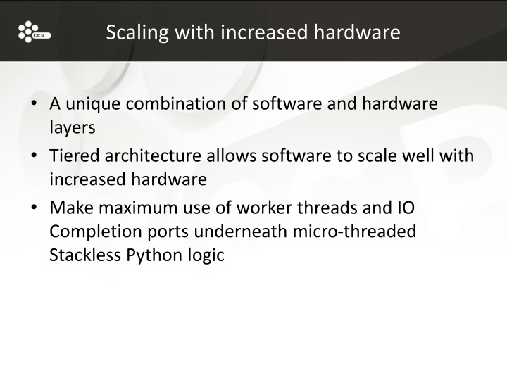 Scaling with increased hardware