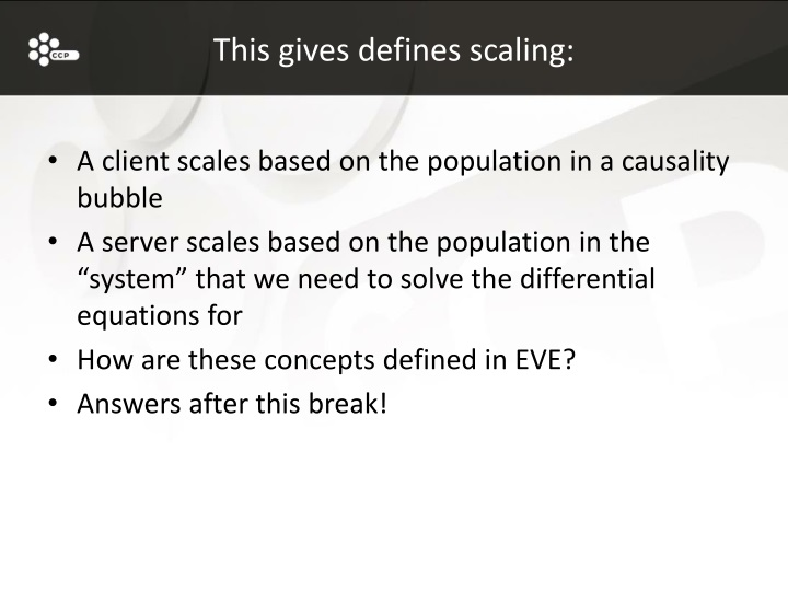 This gives defines scaling: