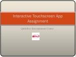 interactive touchscreen app assignment