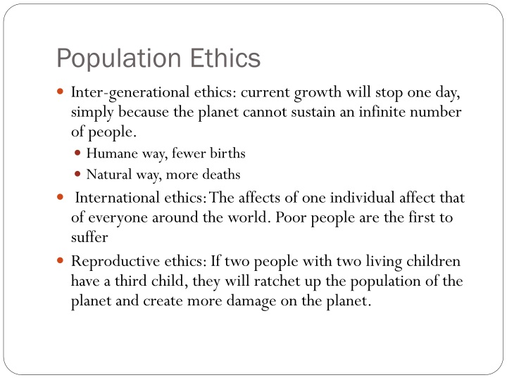 Population Ethics