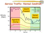 service traffic normal condition