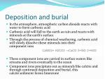 deposition and burial