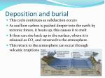 deposition and burial1