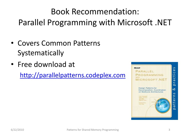 Book recommendation parallel programming with microsoft net