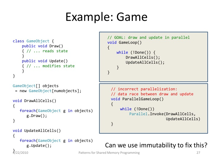 Example: Game