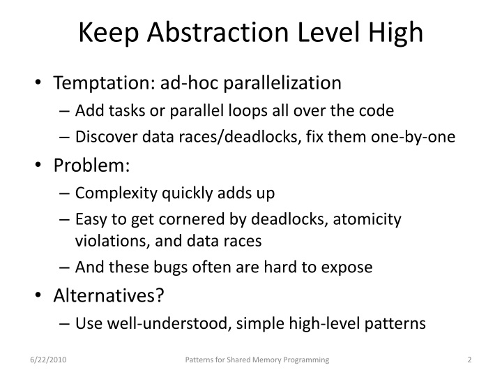 Keep abstraction level high