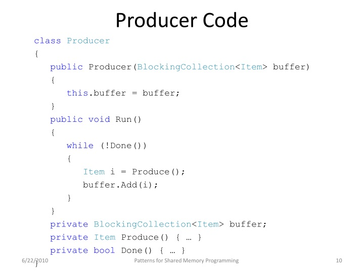 Producer Code