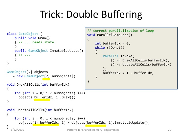 Trick: Double Buffering
