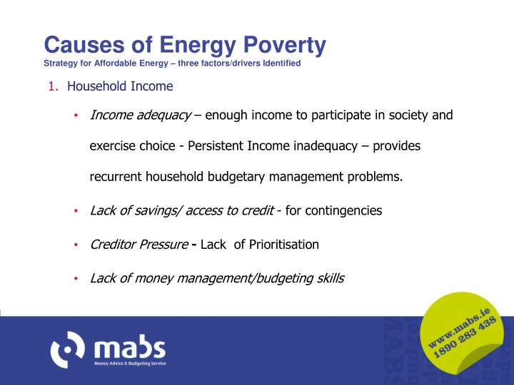 Causes of Energy Poverty
