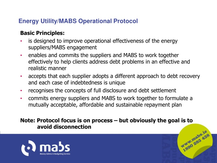 Energy Utility/MABS Operational Protocol