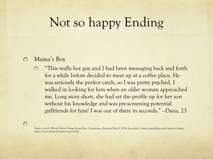 Not so happy Ending