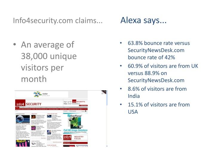 Info4security.com claims...