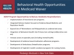 behavioral health opportunities in medicaid waiver