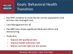 goals behavioral health transition
