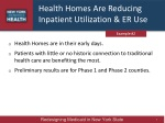 health homes are reducing inpatient utilization er use