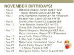november birthdays