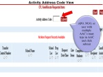 activity address code view