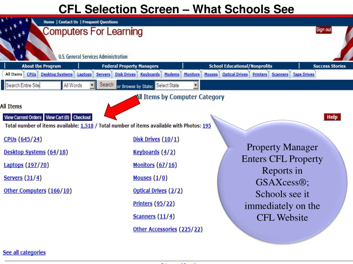 CFL Selection Screen – What Schools See