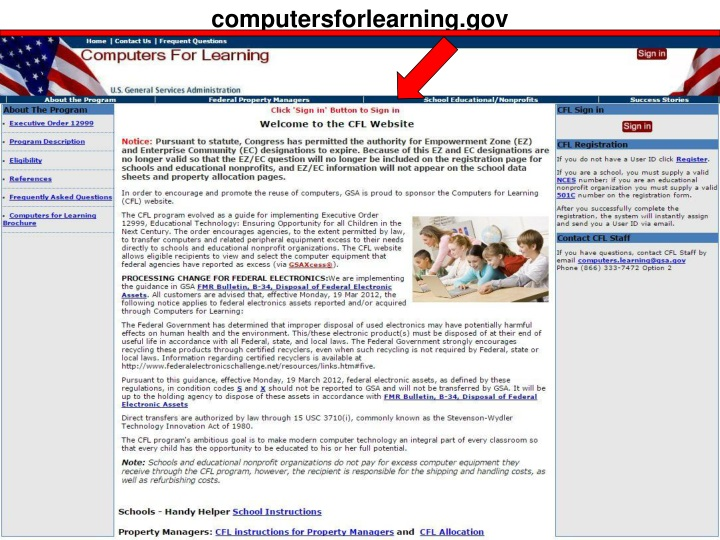 Computersforlearning gov