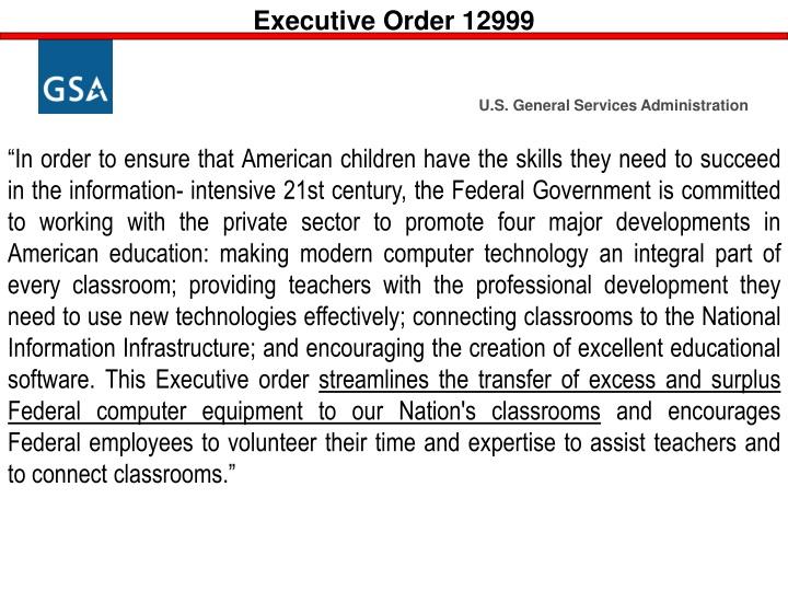 Executive Order 12999