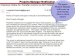 property manager notification