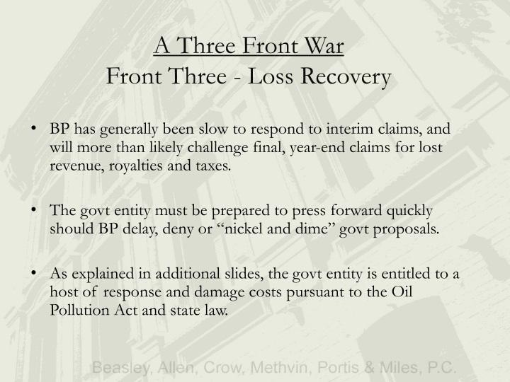 A Three Front War
