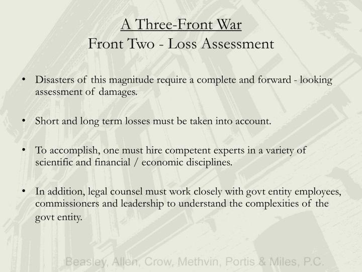 A Three-Front War