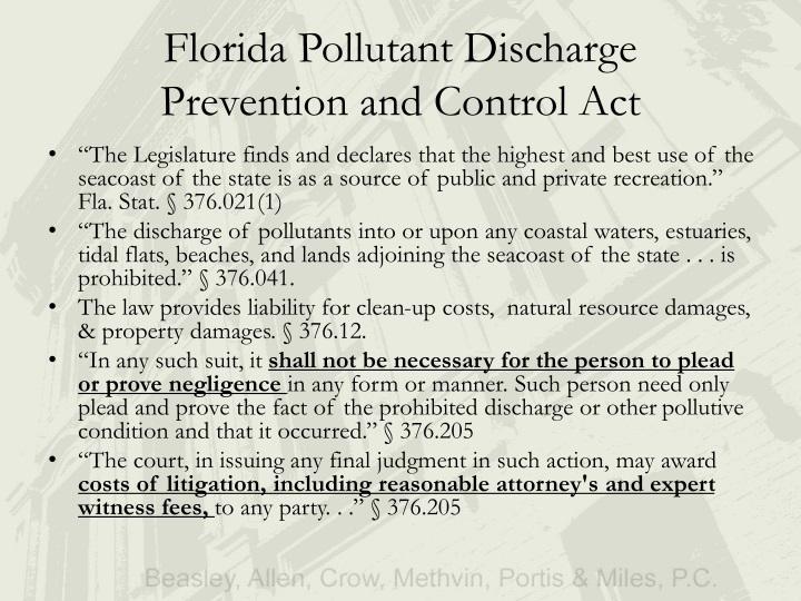 Florida Pollutant Discharge