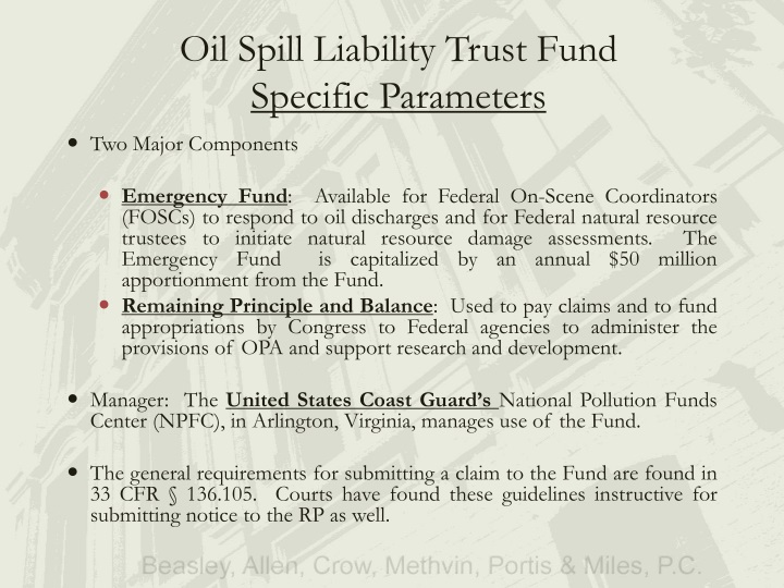 Oil Spill Liability Trust Fund