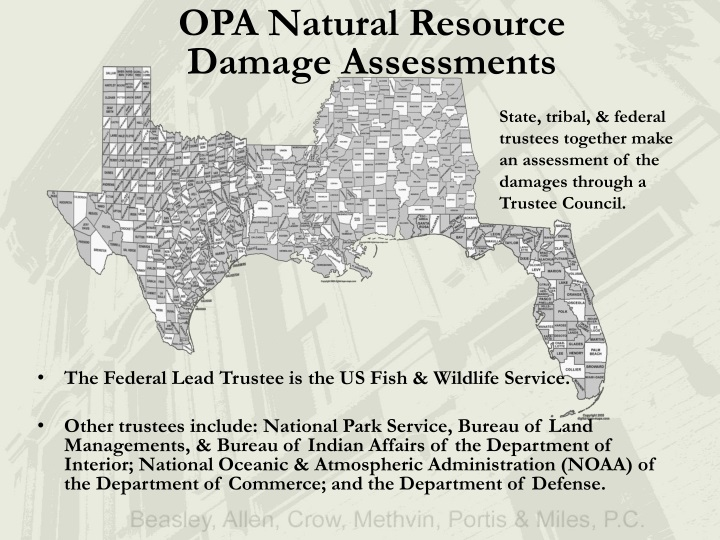 OPA Natural Resource Damage Assessments