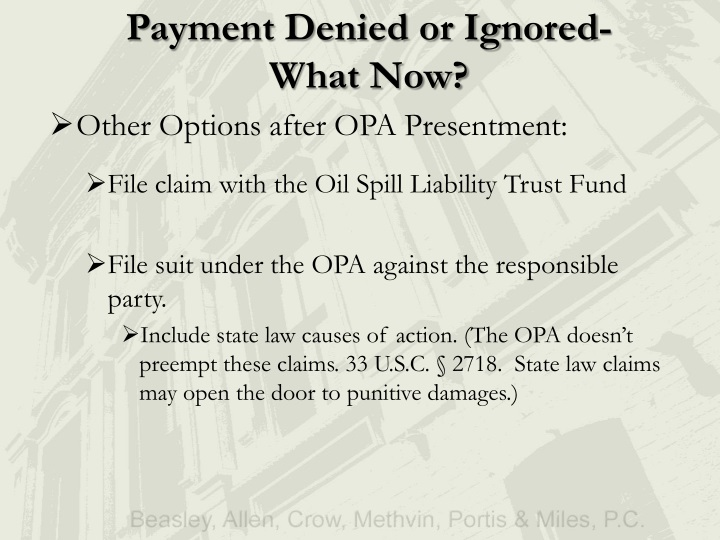 Payment Denied or Ignored-