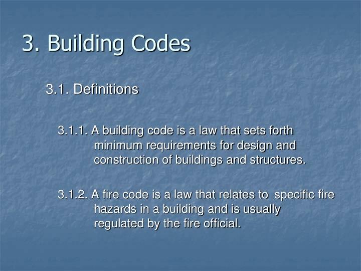 3. Building Codes