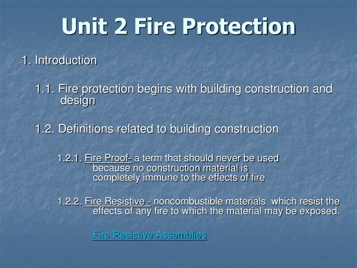 Unit 2 fire protection