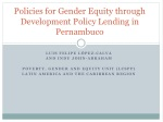 policies for gender equity through development policy lending in pernambuco