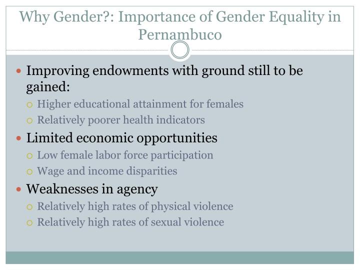 Why Gender?: